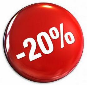 korting 20 %